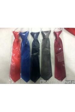 Krawat chłopięcy gładki na gumce M-3