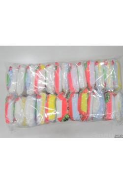 Podkolanówki głądkie elastil dziecięce mix kolorów (14-17) 0929